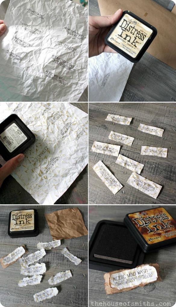 DIY Halloween Potion Labels - distress ink - thehouseofsmiths.com