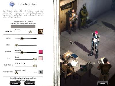 Metal Reaper Online - Character Creation