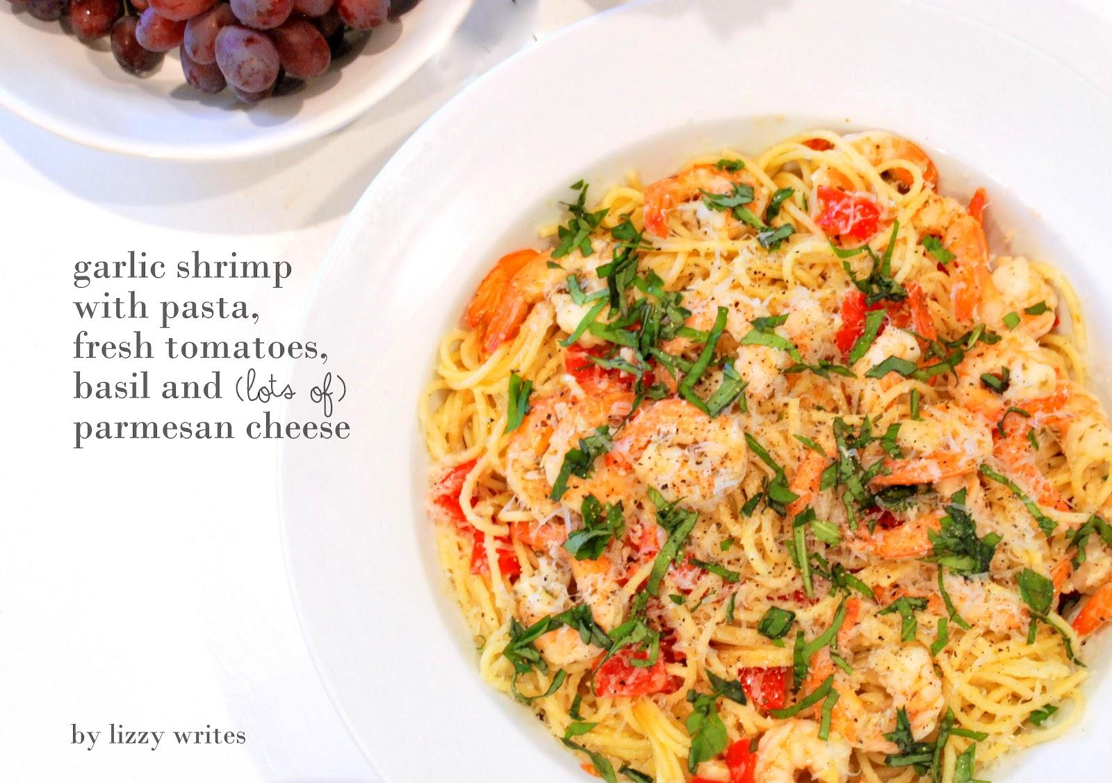 lizzy writes: garlic shrimp pasta