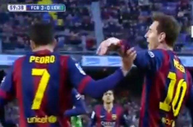 Cuplikan Hattrick Spektakuler Messi