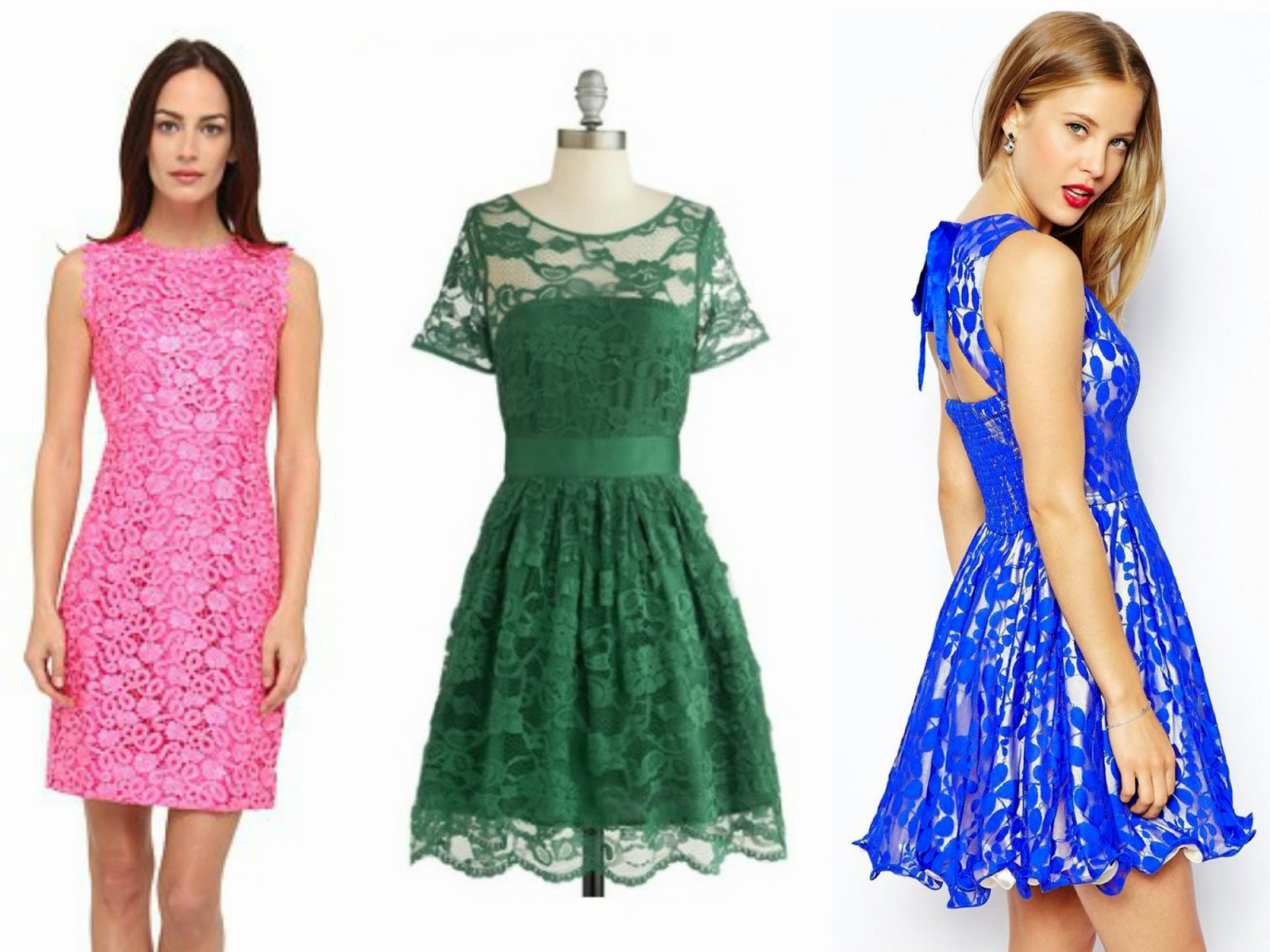 lace dress pink green blue kate spade asos