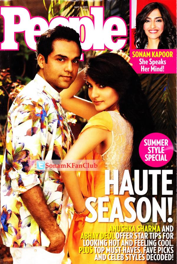 Anushka Sharma And Abhay Deol On People Magazine Cover May 2011 Edition