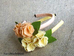 мастер класс цветы из фетра