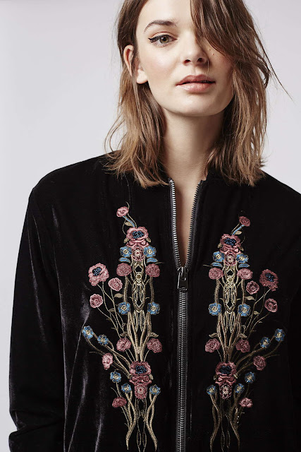 velvet embroidered black jacket, black velvet embroidered coat,