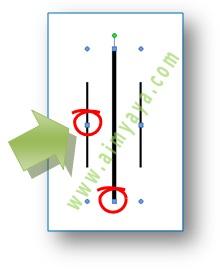 Gambar: contoh memperbesar jarak garis dari cara membuat garis vertikal sejajar di microsoft word 2007