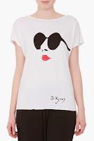 Tricou alb cu ochelari aplicati model DonaKyrosBP1125 (Ama Fashion)