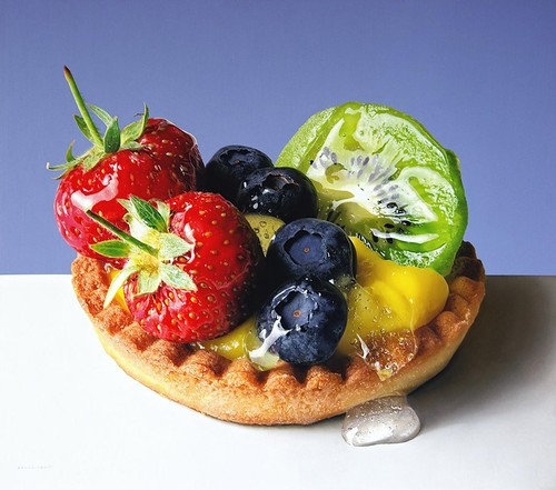 Luigi Benedicenti hyperrealistic food paintings