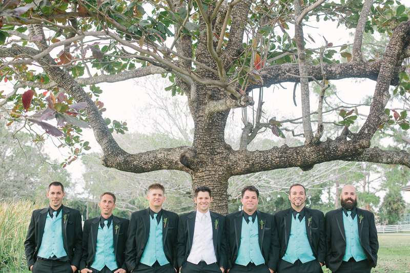 groom and groomsmen lake worth florida wedding photo
