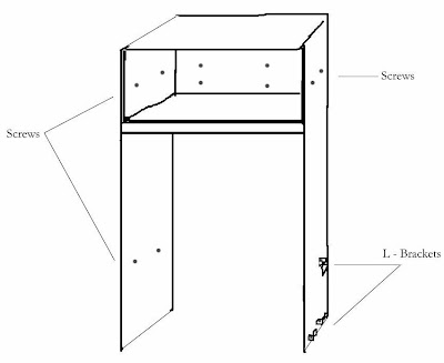 plywood and Ikea cabinet for fridge enclosure