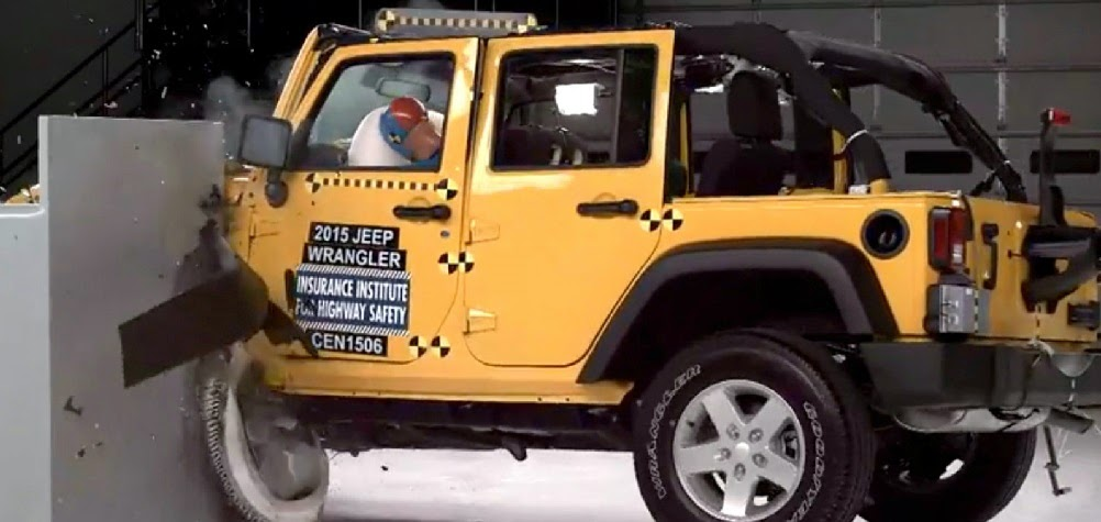 rubicon4wheeler: Jeep Wrangler Excels in Frontal Crash Tests