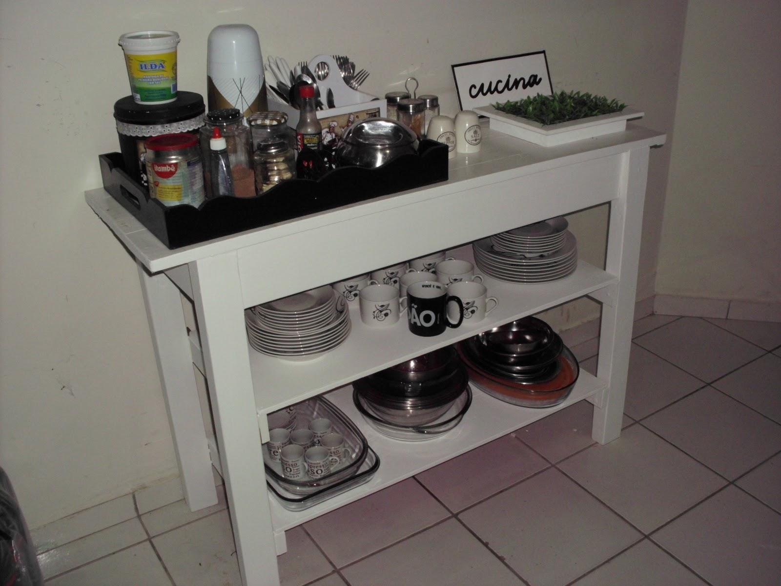 Aparador Buffete Zaiken Plus ~ Ateli u00ea Pinta Bolinhas Ilha na cozinha e ano novo!