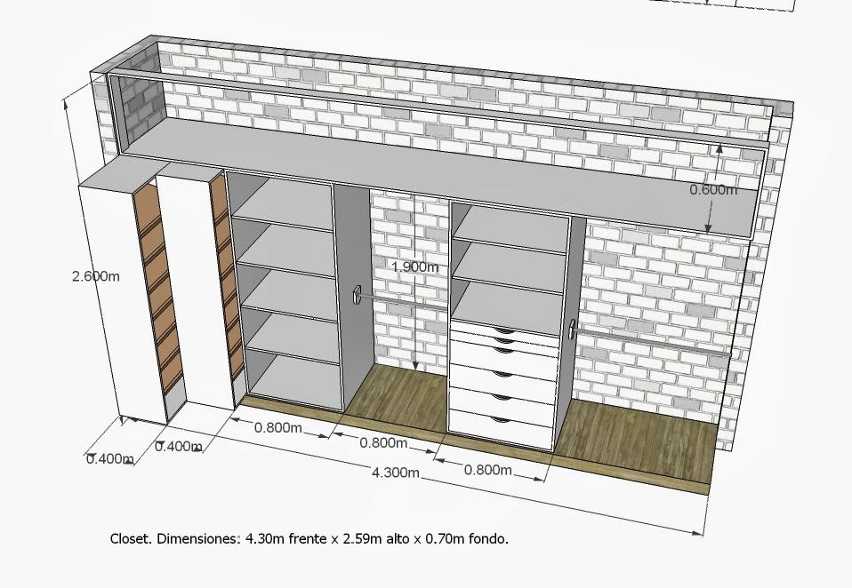 Closets y Cocinas Integrales Residencial.: Proyecto de carpinteria ...