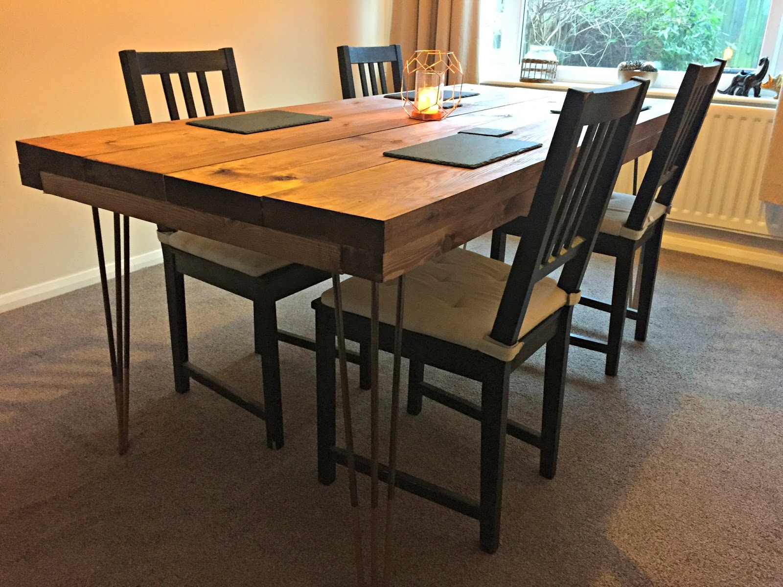 Diy Tutorial Rustic Dining Table With Hairpin Legs By The Leg Company