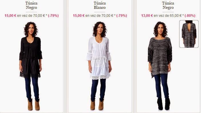 Ejemplos de túnicas en color negro o blanco