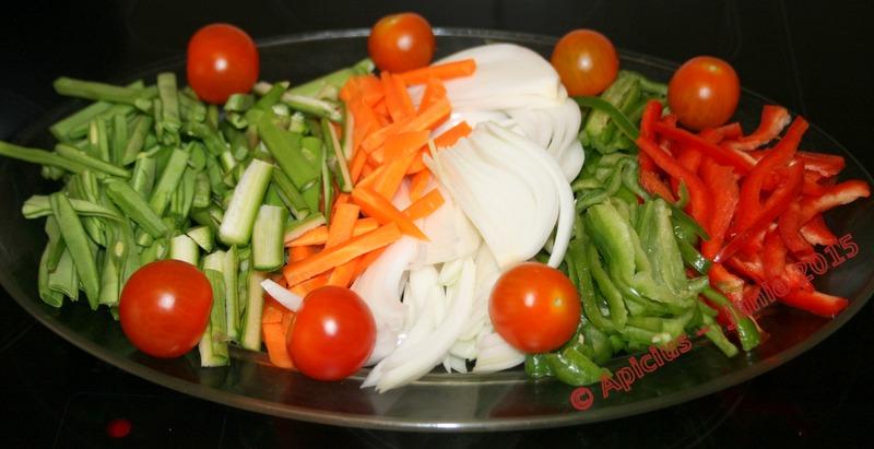 Chop suey con pechuga de pollo oficiada a baja temperatura for Cocina baja temperatura thermomix