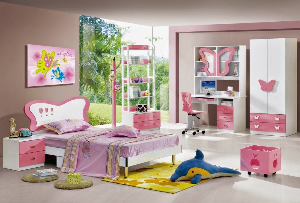 Kids Bedroom Design Color Pink butterfly Butterfly Motif
