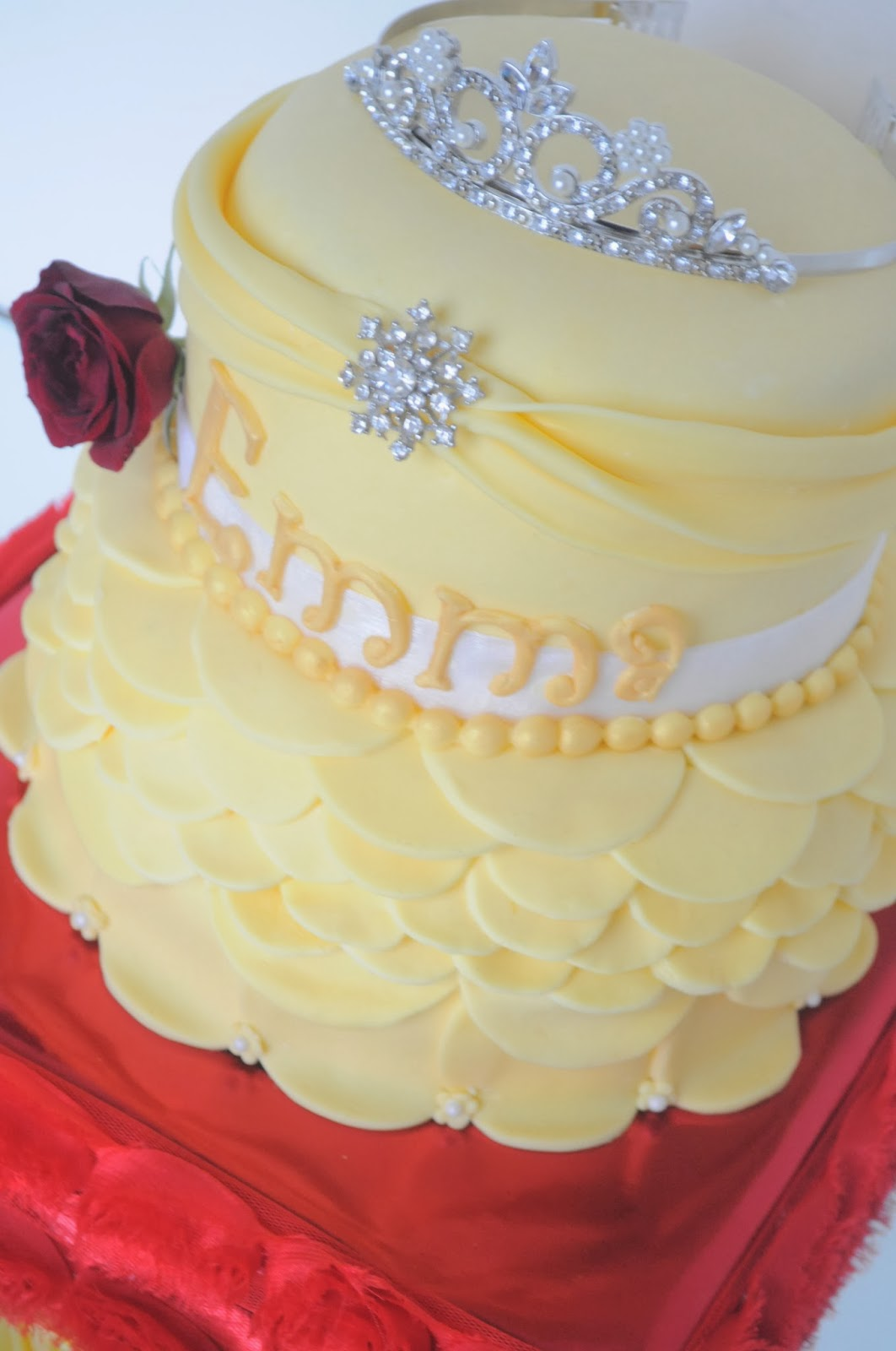 Princess Belle Cake Design Perfectend for