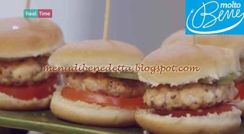 Mini burger di salmone ricetta Parodi per Molto Bene su Real Time