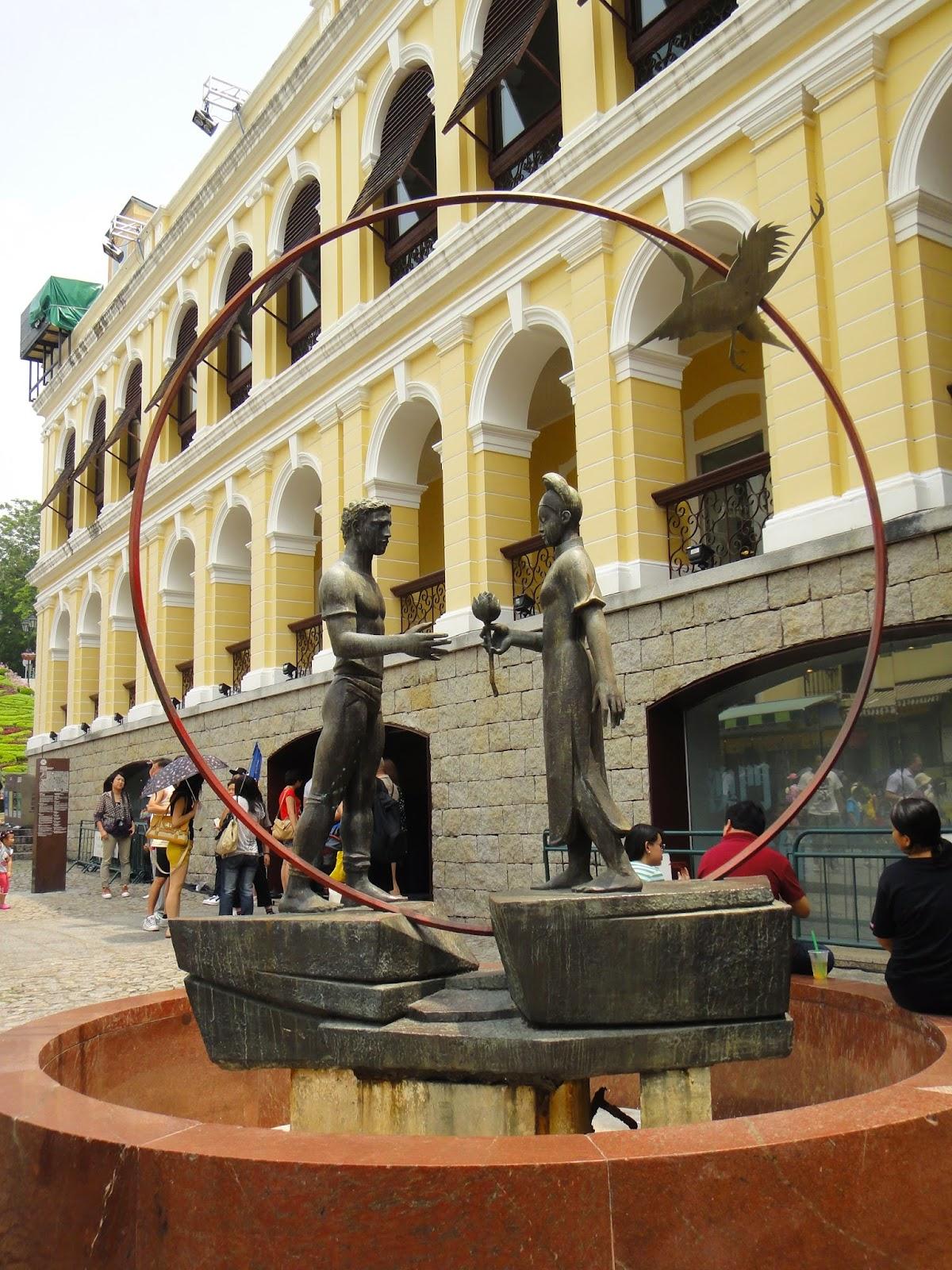 A couple structure at Senado Square Macau