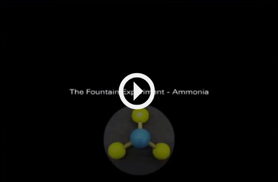 the ammonia fountain experiment