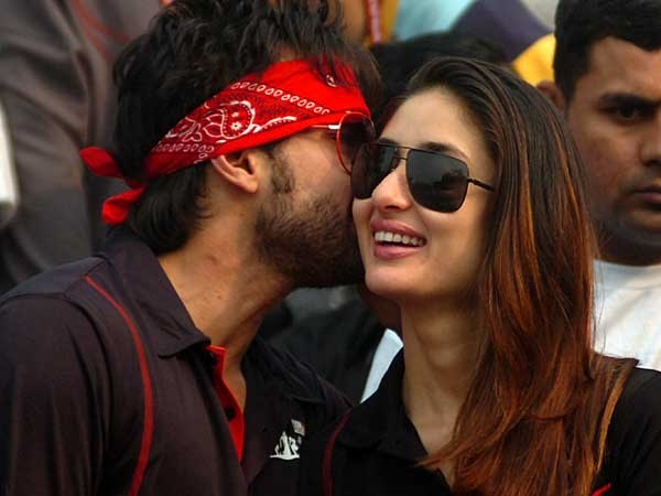Kareena being kissed by saif  - (4) - Celebreties kissing !!! Caught on camera