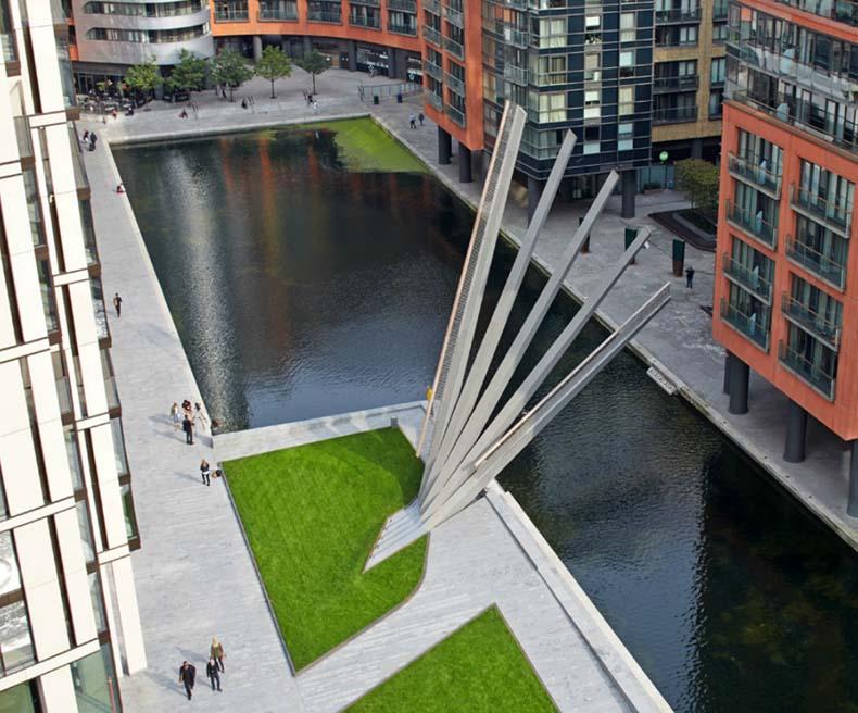 Nuevo puente plegable se abre y cierra como un abanico