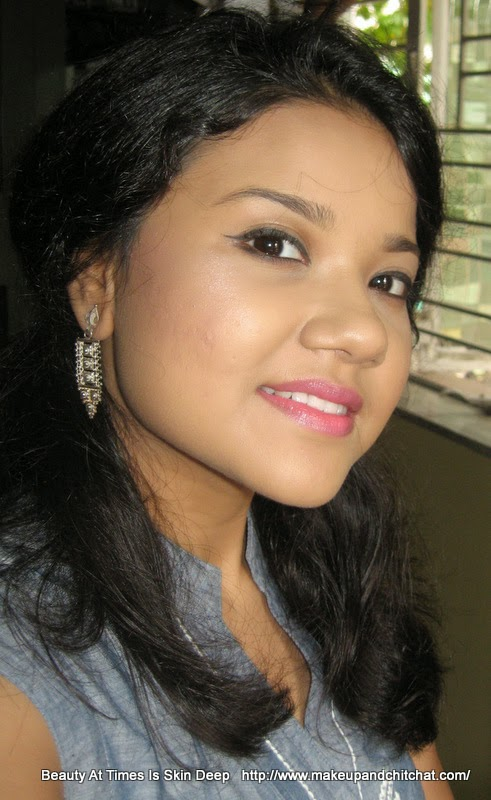LOTD Lakme Absolute Gloss Addict Lipsticks in Desert Rose| LOTD NIvedita | Calcutta Blogger