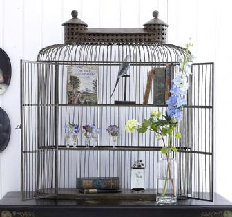 Shelved birdcage cabinet by An Angel at my Table