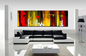 "Abstract Painting ""ModernCity"" by Dora Woodrum"