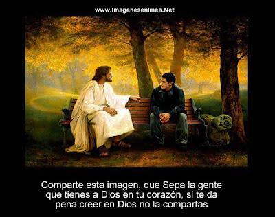 Comparte esta imagen, que sepa la gente que tienes a Dios...