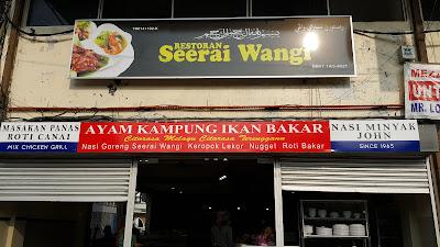 rebranding nama kedai , restoran seerai wangi