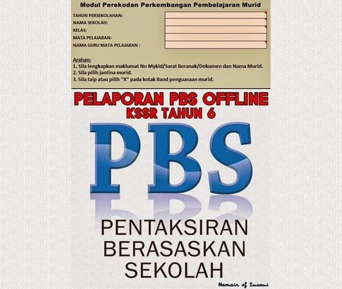 Pelaporan PBS Tahun 6 (OFFLINE) Lembaga Peperiksaan