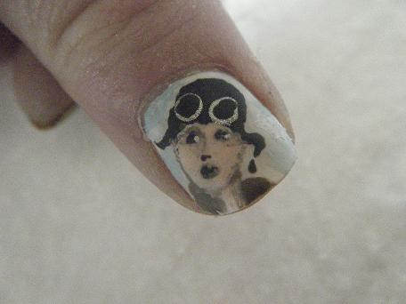 Nailart fo Amelia on Sky blue Background