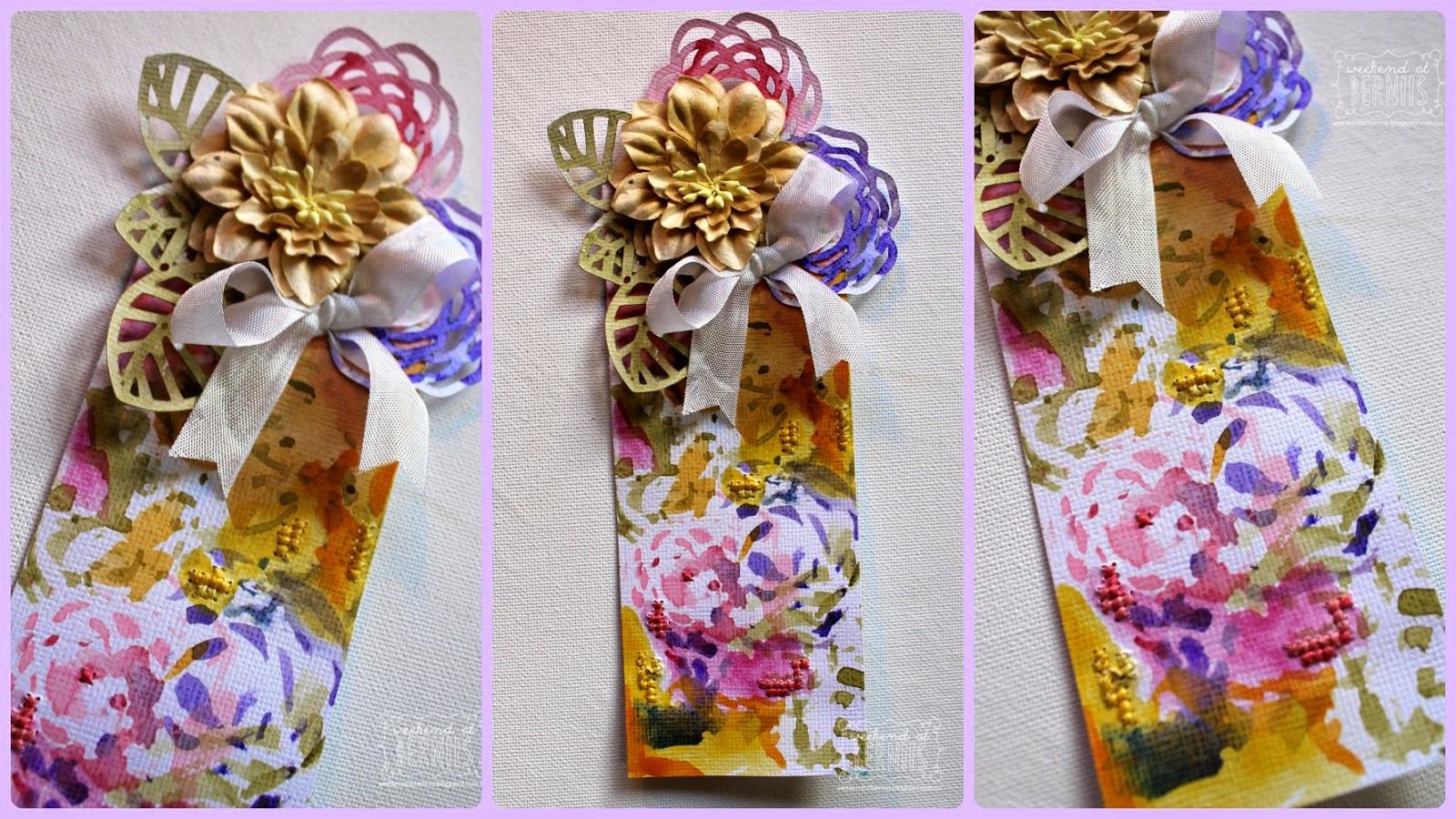 Watercolour bookmark by Bernii Miller