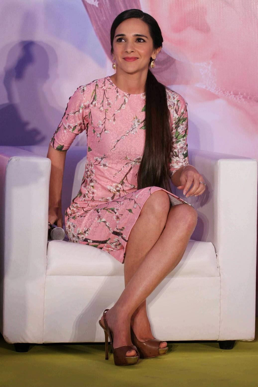 Actress Tara Sharma Latest Cute Hot Pink Short Dress Spicy Thighs Show Photos Gallery At Johnson n Johnson Press Conference