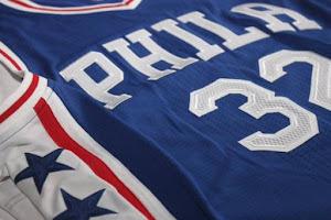 Philadelphia 76ers Rebranded Away Blue Jersey