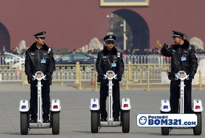 Polis Di China Kini Menggunakan Segway