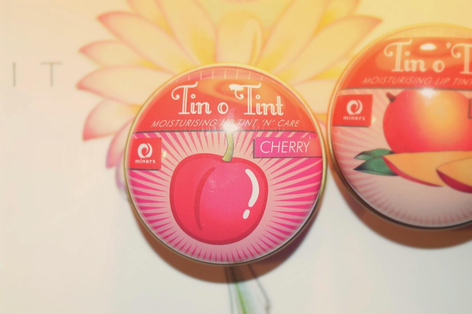 Miners Cosmetics Tin O 'Tint Lip Balms in Mango & Cherry