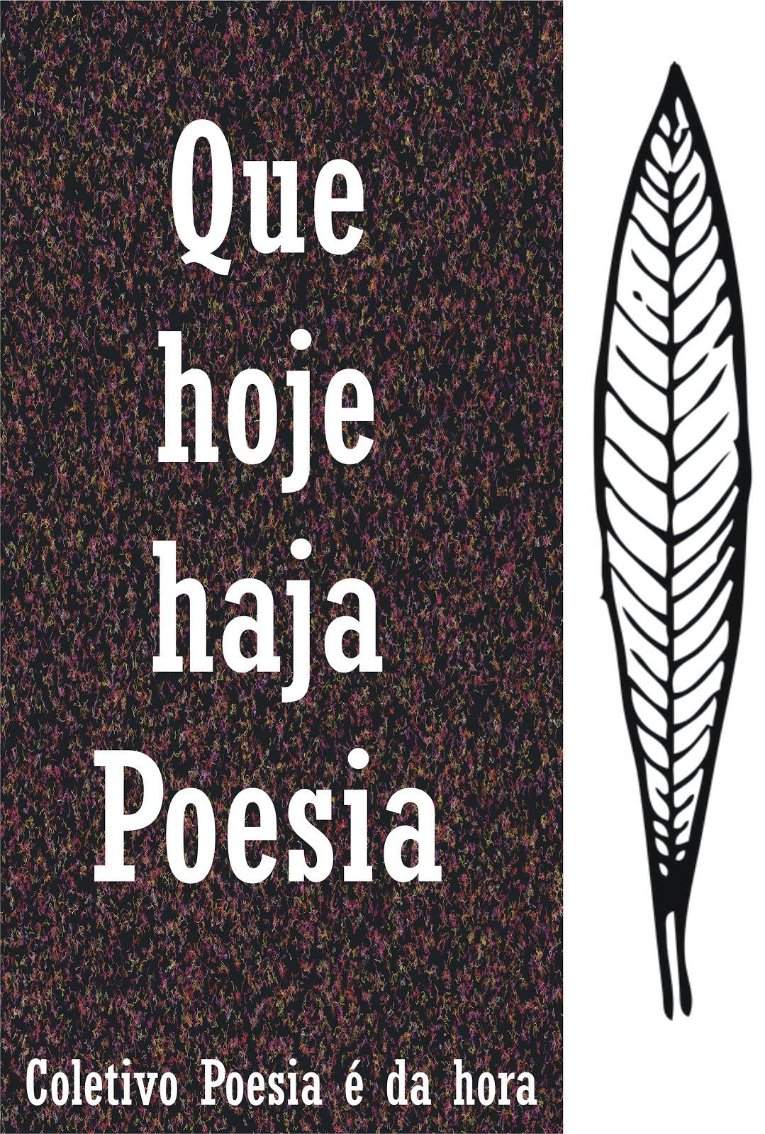 Que hoje haja poesia