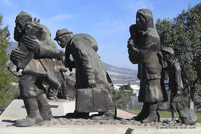 From Holocaust to resurrection statue site (sculptor: Niki Imber)