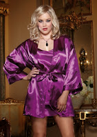 UK Nightwear - Satin Nightie & Wrap Set 6-24