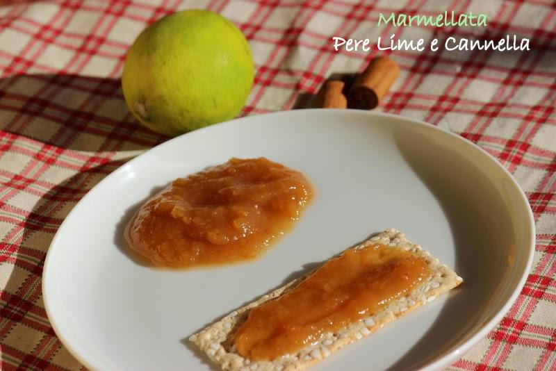 marmellata pere,lime e cannella