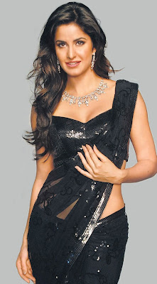 Katrina Kaif In Black Saree