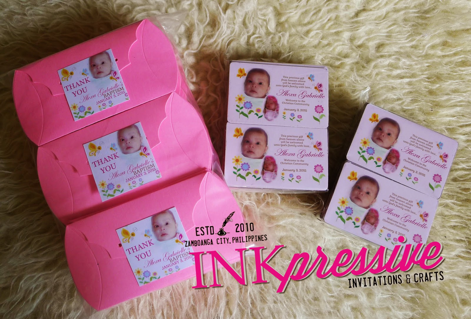 Party souvenirs and giveaways inkpressive invitations for Personalized ref magnet giveaways