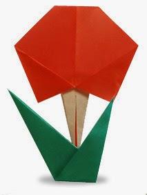 Hướng dẫn cách gấp bông hoa bằng giấy đơn giản - Xếp hình Origami với Video clip - How to make a flower