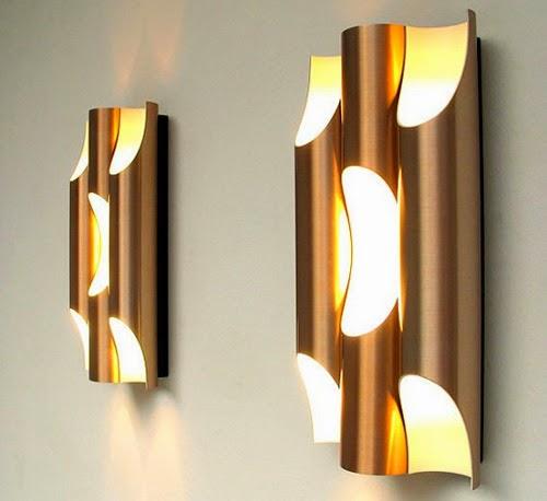attractive pipe wall lamp design model