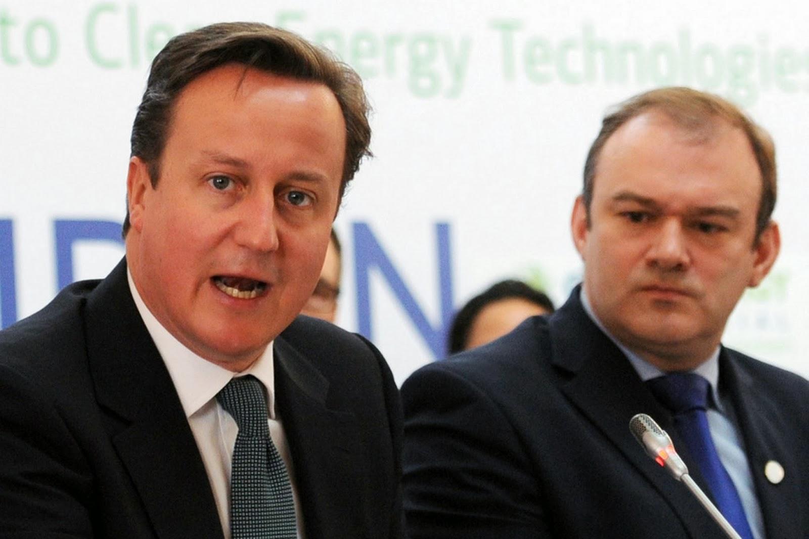 David Cameron & Ed Davey.