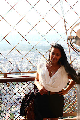 Holiday on top of the eiffel tower in Paris France