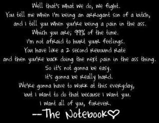 Notebook quote pain in the ass