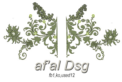 Contoh Design Motif jahit Bordiran Ornament Decoratif